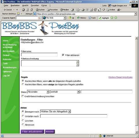 PostBox Spam- und Werbefilter