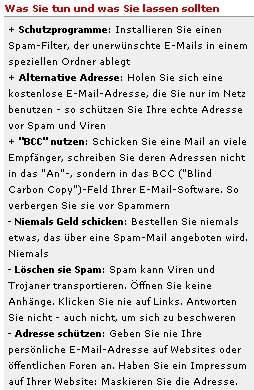 Emailadresse schützen