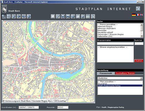 Stadtplan von Bern starten