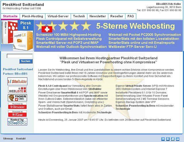 PleskHost Switzerland - Ihr 5-Sterne Webhostingpartner in Bern