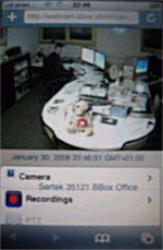 Webcam-Server mit iPhone abrufen