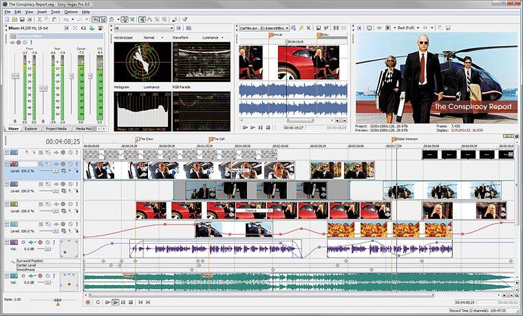 Sony Vegas Pro 8 Filmschnittsoftware
