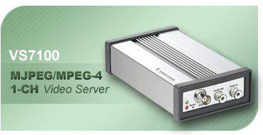 IP 1-Kanal MPEG4/MJPEG Netzwerk Videoserver Audio RTSP VIV VS7100