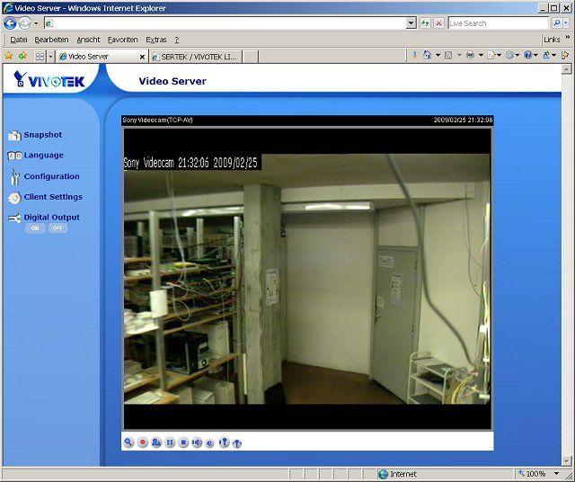 IP 1-Kanal MPEG4/MJPEG Netzwerk Videoserver Audio RTSP Webmonitor